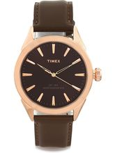 Timex Brown Dial And Brown Strap Analog Watch For ...