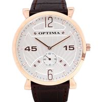 Optima Mens Watch, brown, silver
