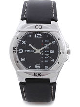 Timex Black Dial And Black Strap Analog Watch For ...