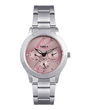 Timex  E-Class Analog Women Watch - TI000Q80100, Pink, Silver