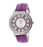 Chappin & Nellson CN-L-02-Purple Ladies Watch, multicolor, purple