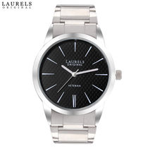 Laurels Original Polo Men's Watch, silver, black