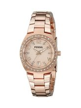 Fossil End-of-Season Analog Rose Dial Women's Watch