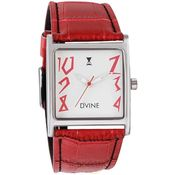 Women Dvine Watches Casual (CF-1011SL-RD01), red, white