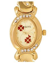 Adine AD-102 - GOLD Ladies Watch, Gold, Gold