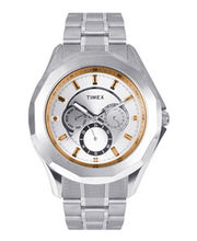 Timex  E-Class Analog Men Watch - TI000P60000, silver, silver