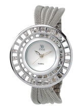 Chappin and Nellson Women Water Resistance Fashion Watch, white, silver