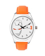 Laurels Original IronMan Fan Watch, white, orange