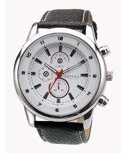 Exotica Gents Watch EFG - 15, White, Black