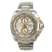 Seiko Gents Chronograph Fashion Watch SNAA92P1, multicolor, white