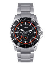 Timex  E-Class Analog Men Watch - TI000F80600, black, silver