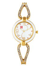 Excelencia White Dial & Gold Strap Analog Women's ...