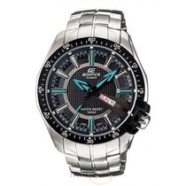 Casio Edifice Mens Wrist Watch (ED417), black, silver