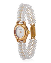 Oleva Ladies Pearl Watch OPW-2, white, multicolor