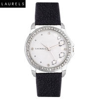 Laurels Fiona Ladies Watch, black, silver