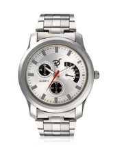 Mens Steel Watch, silver, silver