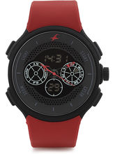 Fastrack Analog-Digital Watch For Men, Red, Grey