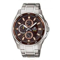 Casio Edifice Mens Wrist Watch (ED421), brown, silver