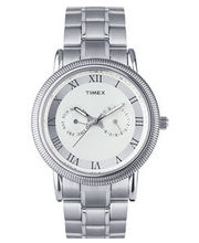 Timex  E-Class Analog Men Watch - TI000J20500, silver, silver