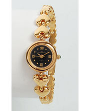Ex-London Ladies Gold Dial Watch (LD-04-LGB), Black, Gold