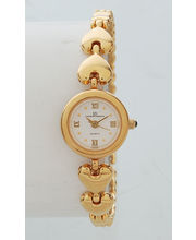 Ex-London Ladies Gold Dial Watch (LD-04-LGW), White, Gold
