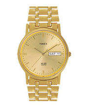 Timex Classic Analog Gold Dial Men's Watch-A504, Light Champange, Golden
