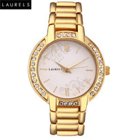 Laurels Premium Women Watch LL-Mst-101, white, gold