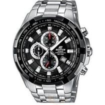Casio Edifice Mens Wrist Watch (ED369), black, silver