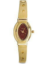 Timex Maroon Dial And Gold Strap Analog Watch For ...