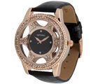 Optima Women Round Dial Watch (OPT-9052-GBB)
