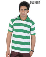 DAndY Single Polo T-shirt With Stripes, Multicolor, L, Design1