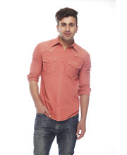 Osia Italia Casual Shirt OS-SRT-37, Peach, Xl
