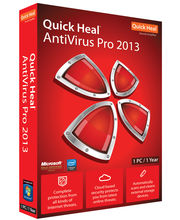 QuickHeal Anti Virus Pro 2013 (10 User And 1 Year) , Red, Red