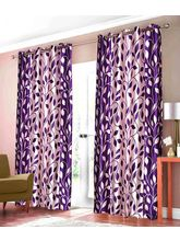 Elegance Leaf Design Polyester Door Curtain Set Of...